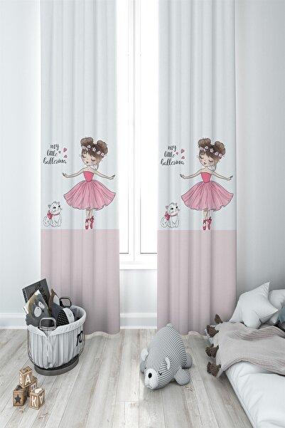 MEKTA HOME Prensesli Kız Çocuk Ve Bebek Odası Fon Perde 2 Kanat Mkt-005