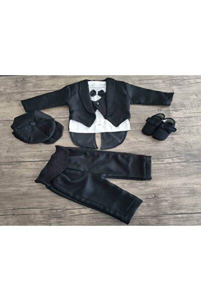 Miniworld Erkek Bebek Siyah Papyonlu Smokin Ponpon Baby