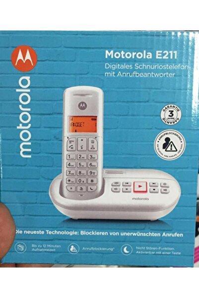Motorola E211 Handsfree Masaüstü Beyaz Telsiz Telefon