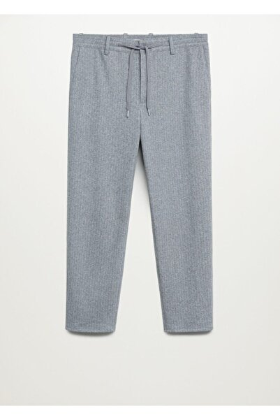 MANGO Man Kadın Açık Kırçıllı Gri Daralan Paçalı Ultra Comfort Pantolon