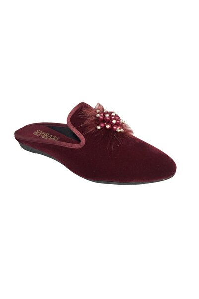 Sahra 0202 Süslü Incili Kadın Ev Terliği Ayakkabısı Çeyiz Terliği