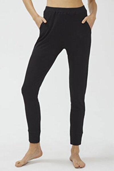 Siyah Bu4u Rib Pantolon