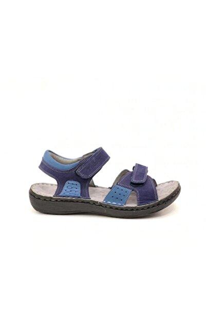 Toddler Erkek Çocuk Lacivert  Deri Sandalet