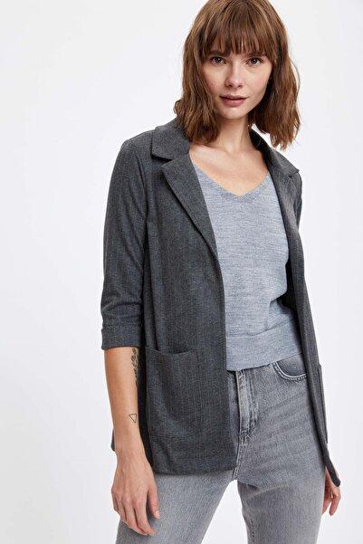 DeFacto Çizgili Ceket
