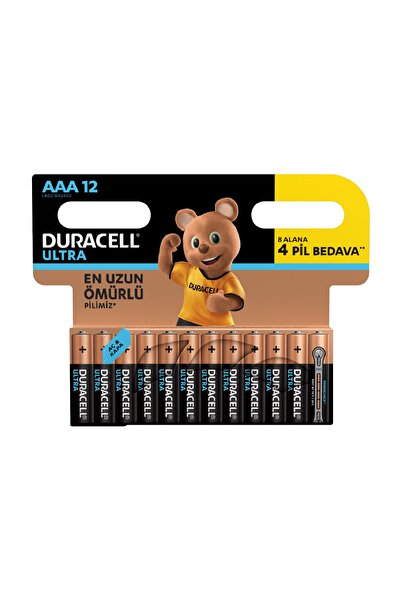 Duracell Turbomax Aaa 8+4 İnce Kalem Pil /