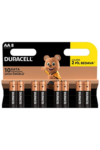 Alkalin Aa Kalem Pil 6+2 Adet /