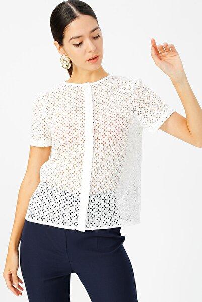 Fabrika Kadın Beyaz Gömlek 504394296 Boyner