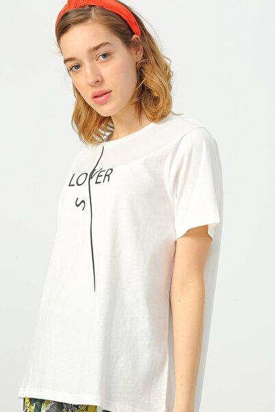 LİMON COMPANY Kadın Beyaz Tişört 504394040 Boyner