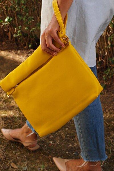 HOOKA Kadın Sarı El ve Omuz Çantası
