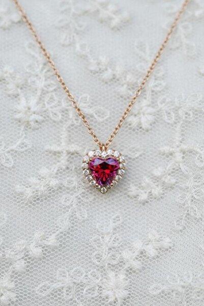 Crystal Diamond Zirconia Labaratuvar Pırlantası 1.25 Carat Yakut Kalp Kolye