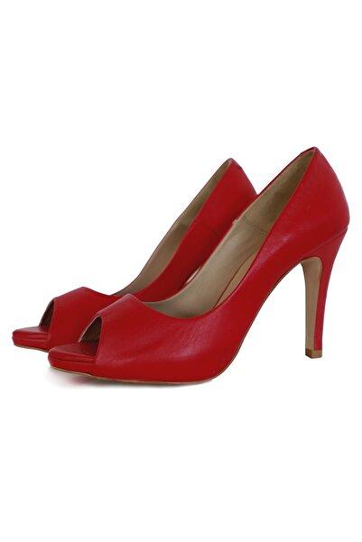 Pia Mia Kadın Kırmızı Topuklu Ayakkabı
