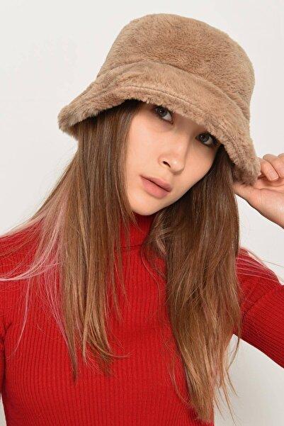Addax Kadın S.Kahve Yumuşak Dokulu Bucket Şapka ŞPK1032 - F1 ADX-0000022935