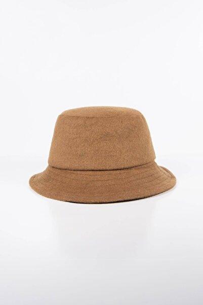 Addax Kadın Taba Kaşe Bucket Şapka ŞPK1027 - F1 ADX-0000022803