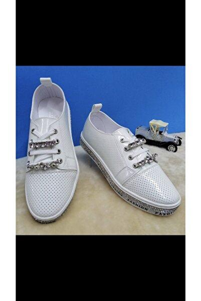 Markopark Kadın Beyaz Ogara Ayakkabı