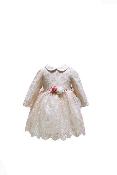 Mymio Kız Çocuk Pembe Dantelli Elbise