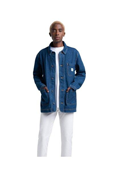 Herschel Supply Co. Erkek Mavi Shop Jacket Mid Wash Denim Ceket