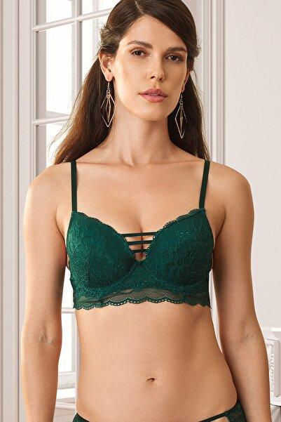 Pierre Cardin Kadın Yeşil Lyon Double Push Up Sütyen 4751