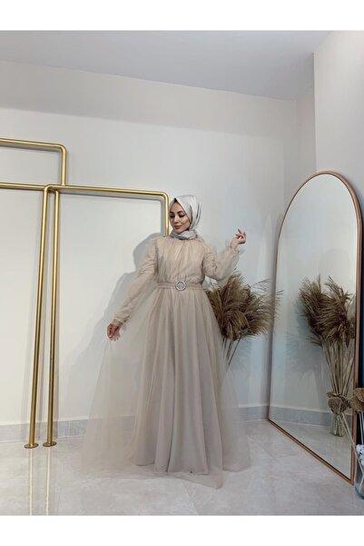 Gloomy Official Kadın Fondoten Renk Büzgülü Abiye