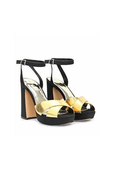 İpekyol Kadın Sarı Rugan Bantlı Topuklu Sandalet