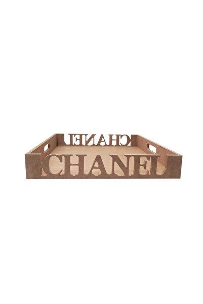 Gumustenevim Ahşap Boyanabilir Chanel Tepsi 35x35 cm