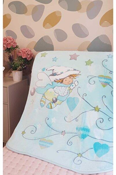 Sarar Mavi Kabartmalı Bebek Battaniyesi