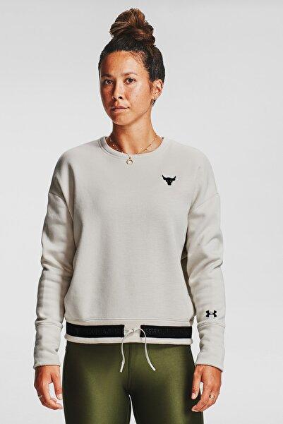 Under Armour Kadın Spor Sweatshirt - Ua Prjct Rock Cc Fleece Crew - 1357059-110