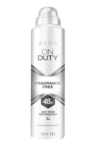 AVON On Duty Fragrance Free Unisex Kokusuz Deodorant 150 ml