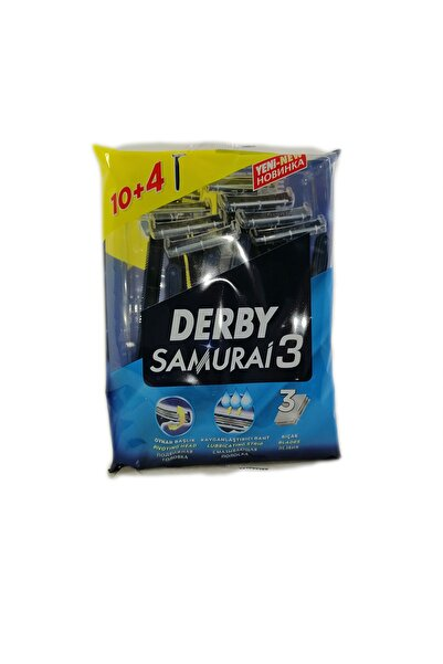 Derby Samurai 3 Tıraş Bıçağı (3 Bıçaklı ) 10+4 Promosyon Paket