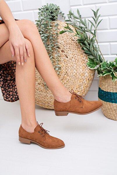 Moda Değirmeni Kadın Taba Süet Günlük Ayakkabı Md1011-112-0001