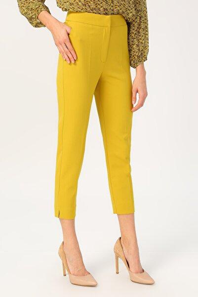 RANDOM Kadın Sarı Klasik Kesim Yüksek Bel Pantolon