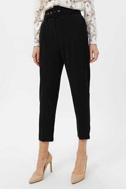 RANDOM Kadın Siyah  Klasik Kesim Yüksek Bel Pantolon