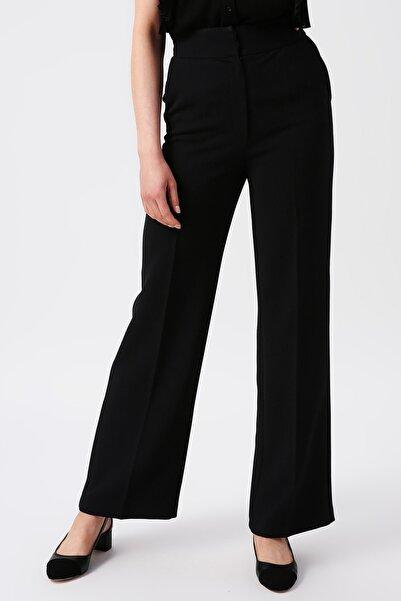 RANDOM Kadın Siyah Yüksek Belli Geniş Kesim Pantolon