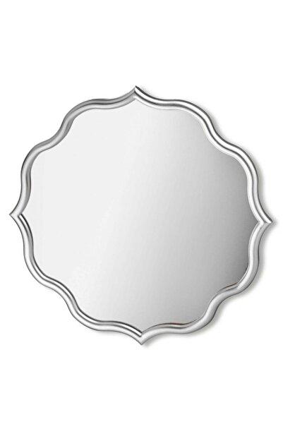 The Mia Gümüş Mossa Home Dekor Ayna 60*60 Cm