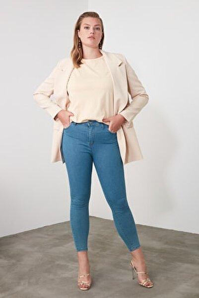 Indigo Yüksek Bel Skinny Jeans TWOSS20JE0301