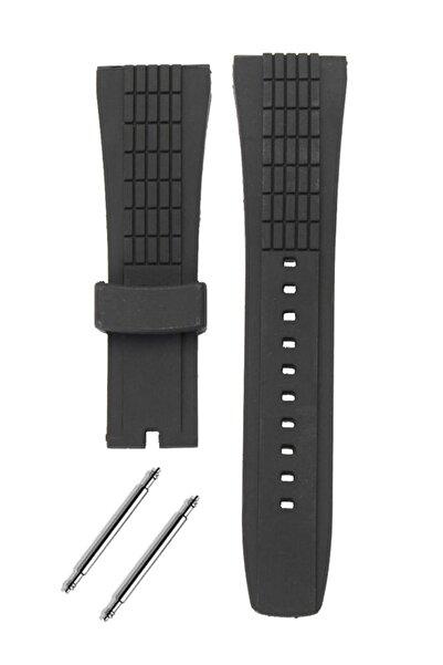 Seiko Velatura Saat Uyumlu Siyah Renk Silikon Saat Kordonu Kayışı