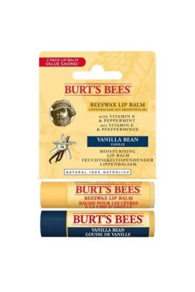 Burts Bees 2li Lip Balm Set (beeswax + Vanilya)