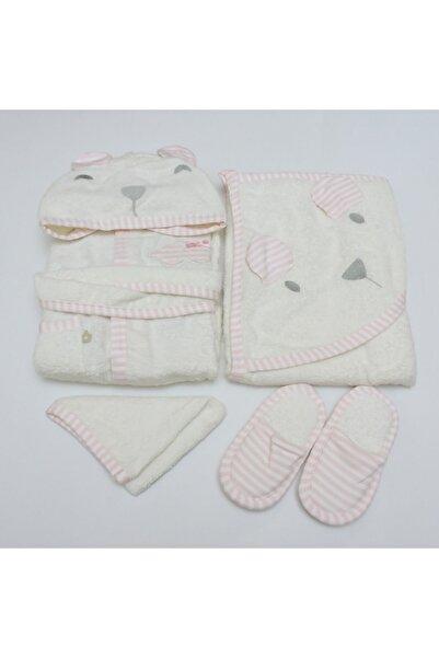 Bibaby Kız Bebek Pembe Bornoz Seti