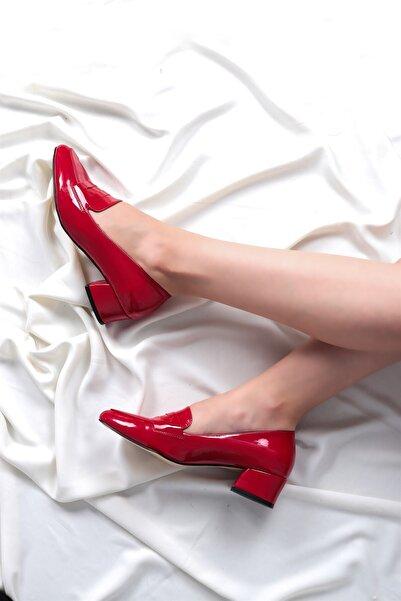 Hayalimdeki Ayakkabı Kadın Kırmızı Luna Topuklu Rugan Ayakkabı