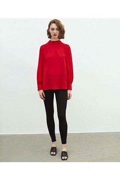 İpekyol Kadın Kırmızı Balon Kol Bluz