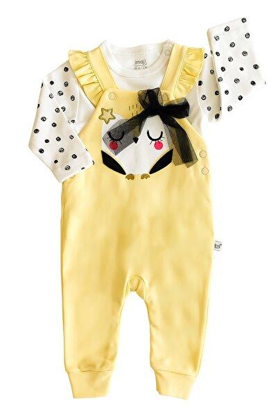 İmaj Bebek Sarı Kaliteli Star Owl 2'li Salopet Takım