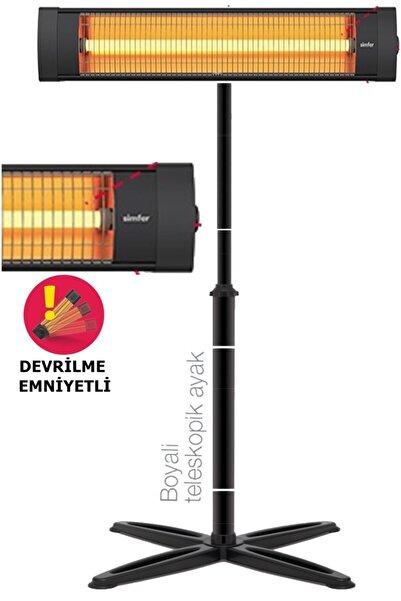 Simfer Blackline Infrared Elektrikli Soba Isıtıcı Ayak Dahil