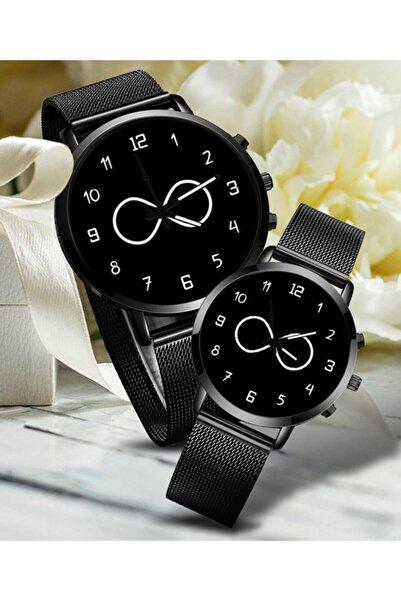WatchArt Sonsuzluk Sevgili Saatleri Siyah Çift Kol Saatleri Sevgililer Günü Hediyesi