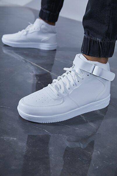 Sateen Men Erkek Beyaz Sneakers Spor Bot