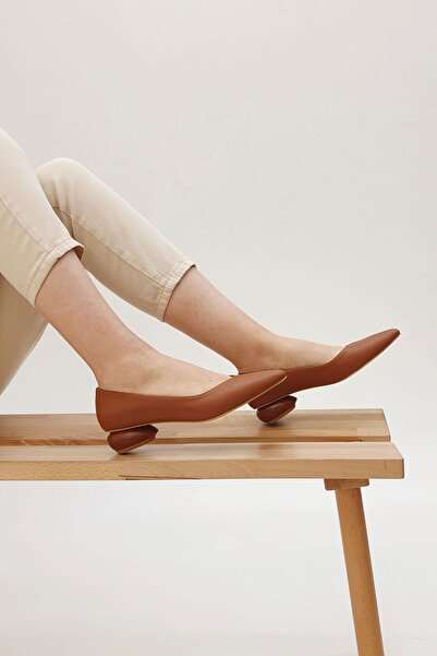 Marjin Camel Kadın Evara Günlük Topuklu Ayakkabı 20Y00016BN86