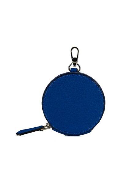 Vuqu Mini Yuvarlak Kulaklık Çantası Saks Mavi