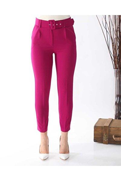 NİCE Kadın Fuşya Kemerli Kumaş Pantolon