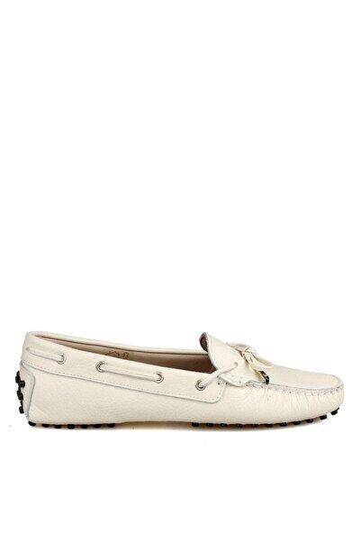 MİLARNU Kadın Kemik Hakiki Deri Loafer Ayakkabı