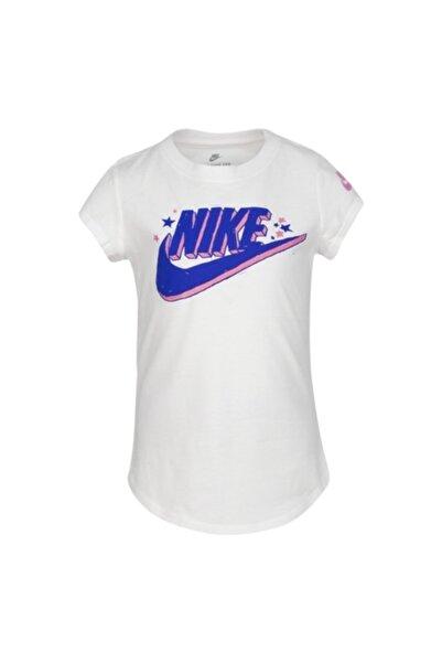 Nike Kız Çocuk Beyaz Nıke G Futura Marker Ss Scoop Tee  T-Shirt  36g115-001