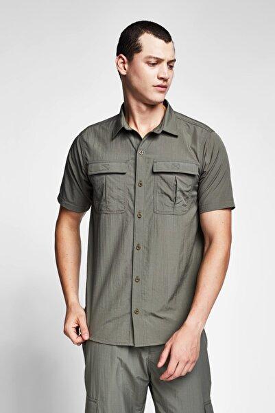 Lescon Erkek Haki Kısa Kol Gömlek