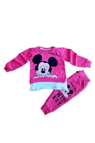 Mickey Mouse Kız Çocuk Pembe Eşofman Takımı